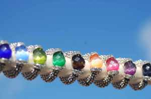 Bague couleur grosse perle