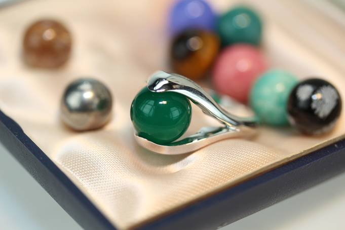 bague perle interchangeable